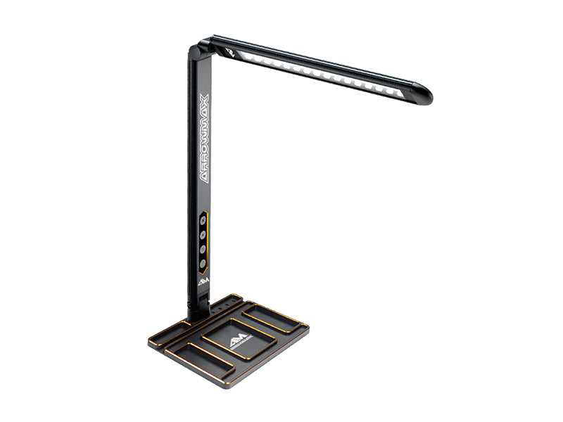 Arrowmax Alu Tray with LED Pit Lamp for Set-Up System Black Golden - RACERC