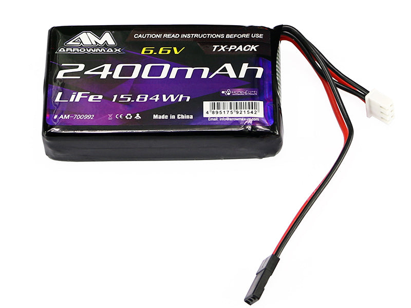AM Lipo 2400mAh 6.6V For Futaba 4PK/4PX/4PV/7PX (AM-700992)