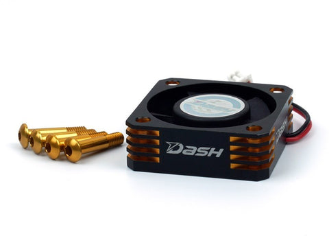 DASH Ultra High Speed ESC Cooling Fan (30x30mm) Alu Black Golden DA-770107 - RACERC