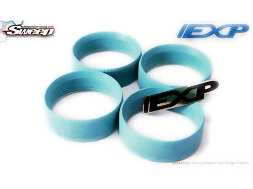 Sweep EXP Mold tire Inserts Aqua (Medium) 4pcs - RACERC
