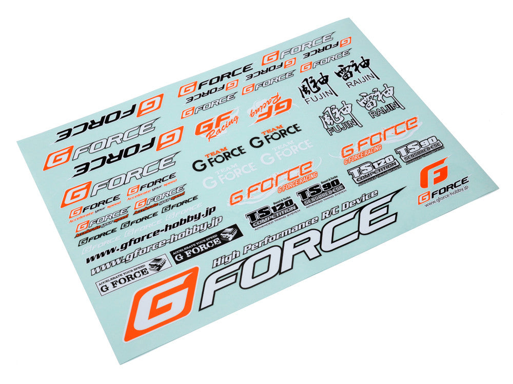 A4 Gforce Decals - RACERC