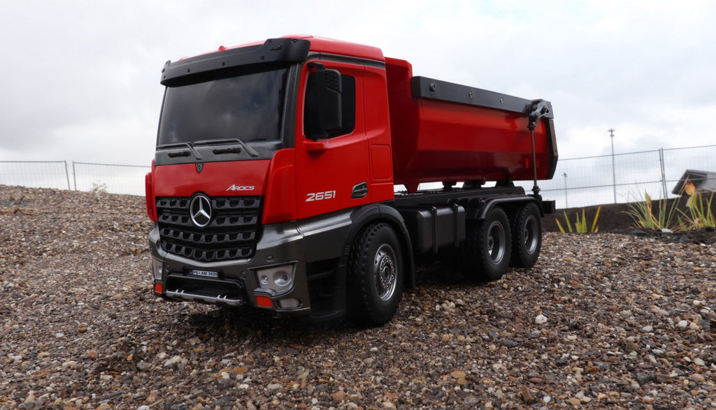 Amewi Mercedes Arocs Truck Tipper 2,4 GHz RTR red 1:16 22407 - RACERC