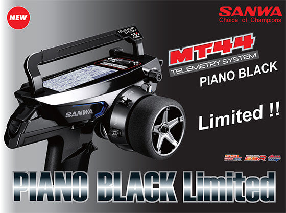 Sanwa MT-44 Piano Black Limited Edition Radio + RX-482 Receiver - RACERC