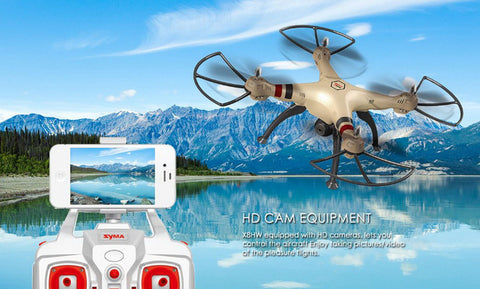 Syma X8HW WIFI FPV With 1MP HD Camera 2.4G 4CH 6Axis Altitude Hold RC Quadcopter RTF - RACERC