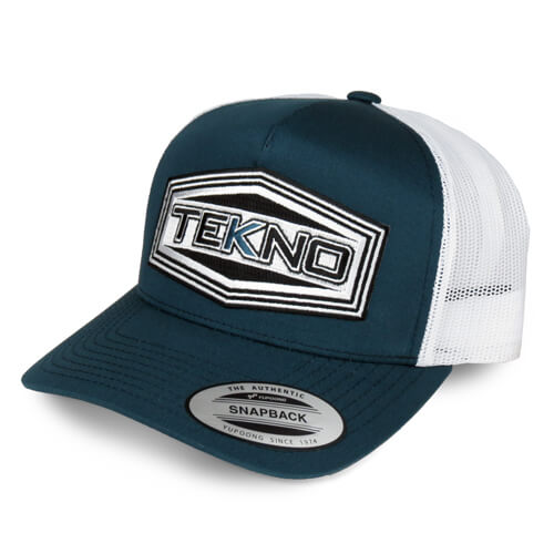 TKRHAT11R – Tekno RC Patch Trucker Hat (round bill, mesh back, adjustable strap) - RACERC