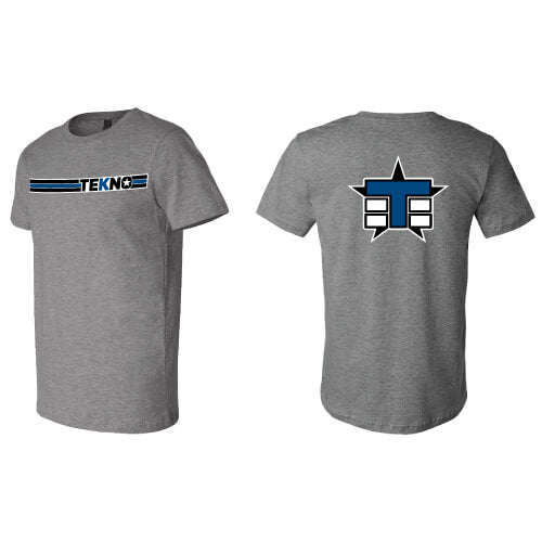 Tekno RC T-Shirt (horizontal design, lightweight, graphite heather) - RACERC