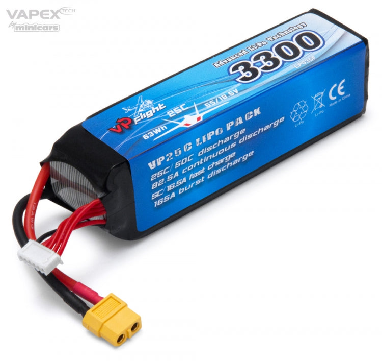 Li-Po Battery 5S 18,5V 3300mAh 25C XT60-connector