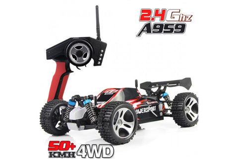 Wltoys A959 Vortex 1/18 2.4G 4WD Electric RC Car Off-Road Independent Suspension Buggy RTR - RACERC