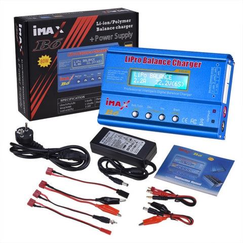 iMAX B6 80W 6A Lipo Battery Balance Charger with Power Supply Adapter - EU Plug