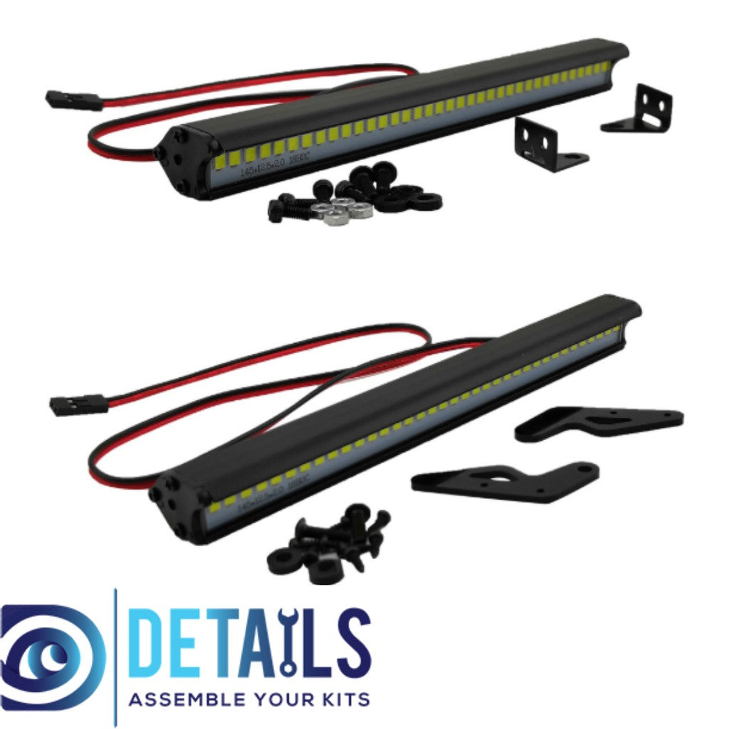 ProtonRC LED ROOF 36 SPOTLIGHT FOR RC CARS A STYLE MOUNT - Jeep 145MM 5V-7.4V