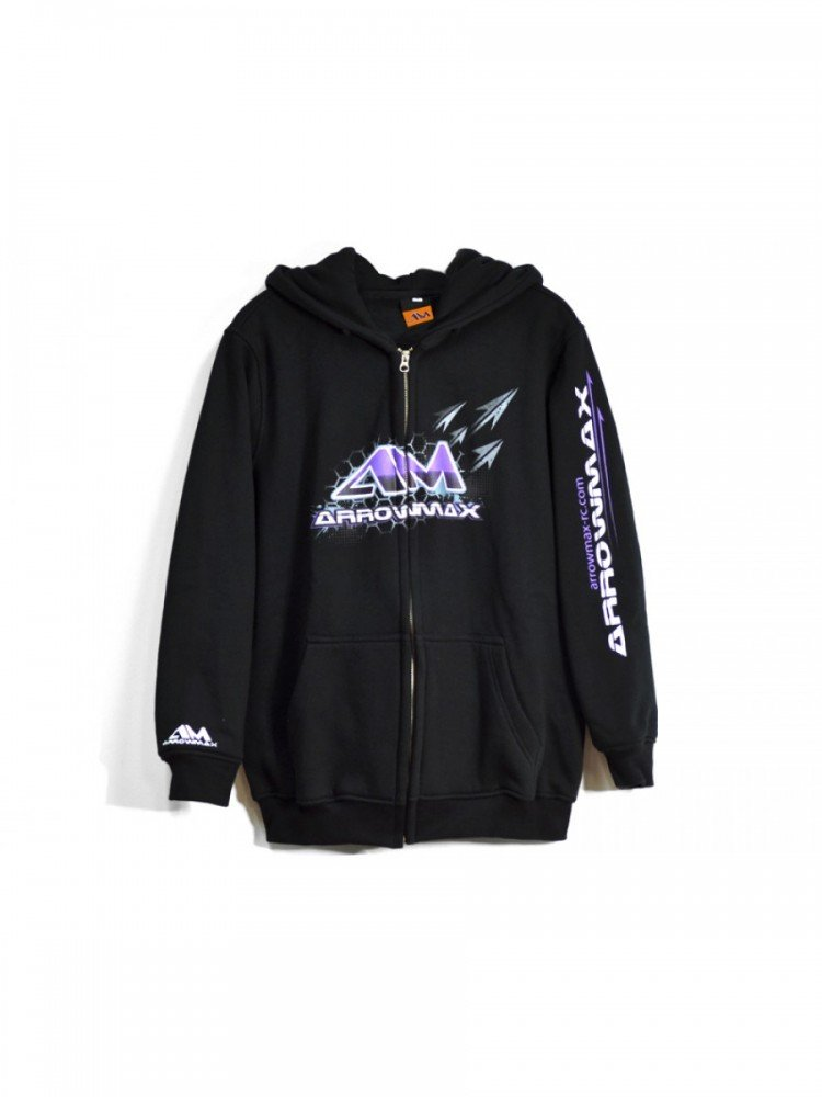 Arrowmax Sweater Hooded - Black (M) (AM-140312) - RACERC