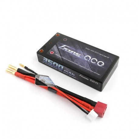 Gens ace 3500mAh 7.4V 60C 2S1P HardCase Lipo Battery 58# pack with 4.0mm Bullet to T plug+XHR