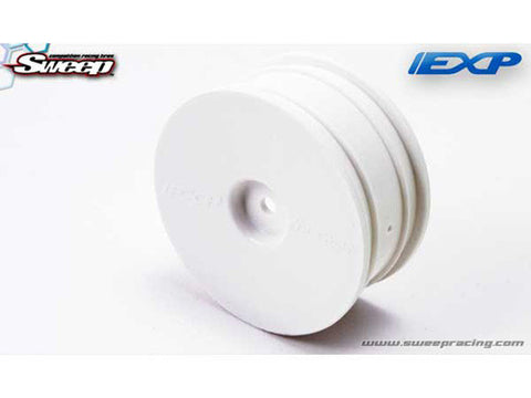 24mm 1/10 EXP TC Dish Wheels White (4) - RACERC