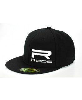 REDS Large R Logo Flexfit Flatbill Hat available in M/L - RACERC
