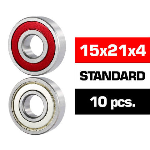 "15x21x4mm ""HS"" HYBRID SEALS BEARING SET (10pcs.) - RACERC"