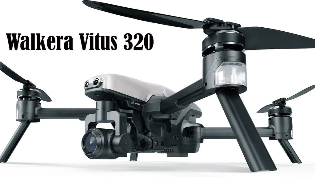 Walkera Vitus 320 5.8G Wi-Fi FPV Drone with 3-Axis 4K Camera, 3D Gimbal, DEVO F8S Remote Controller