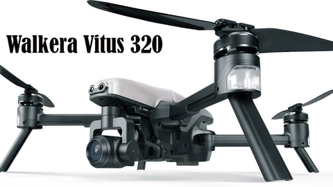 Walkera Vitus 320 5.8G Wi-Fi FPV Drone with 3-Axis 4K Camera, 3D Gimbal, DEVO F8S Remote Controller - RACERC