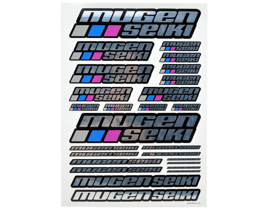 Mugen Seiki Large Decal Sheet (Chrome) - RACERC