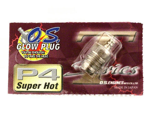 "O.S. P4 Turbo Glow Plug ""Super Hot"" - RACERC"