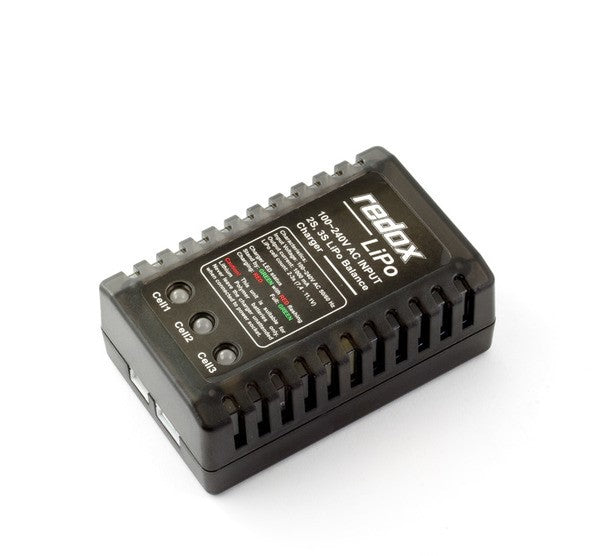 Redox LiPo Balance Charger for 2S-3S LiPo Batteries (AC) - RACERC