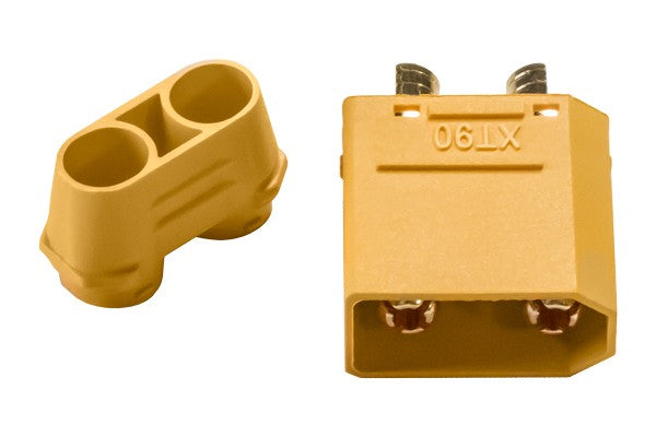 Gold connector XT90 plug male with housing - RACERC