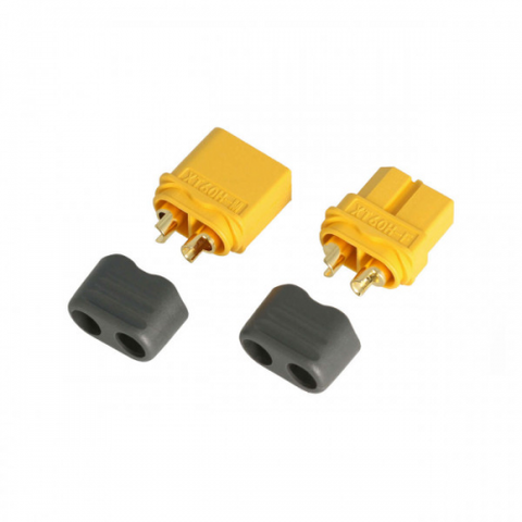 Rockamp XT60 Connector Set (Plug and Socket) with buckle - RACERC