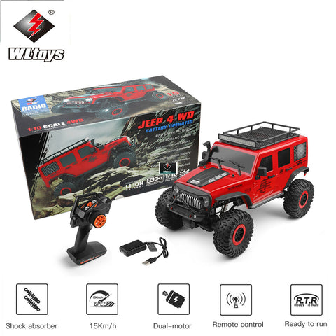 New WLtoys 104311 2.4Ghz 1/10 Off-Road RC Car 4WD Brushed Crawler Jeep SUV RTR