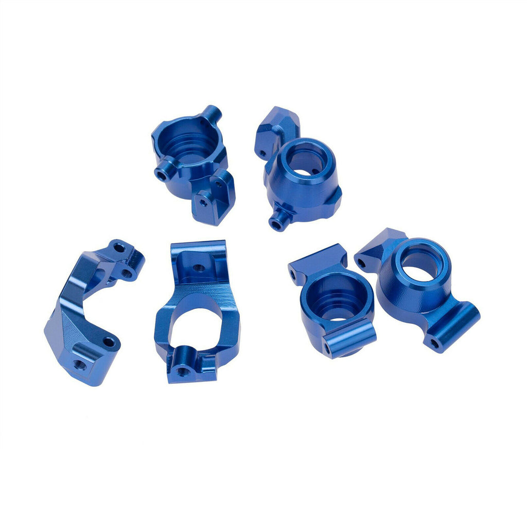 ProtonRC 1/10 Traxxas MAXX  Aluminum Steering Knuckle Set, C hub set, Rear Stub Axle Carriers Set Blue