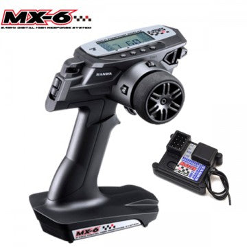 Sanwa MX-6 FH-E 3-Channel 2.4GHz Radio System w/RX-391W 3-Channel Receiver - RACERC