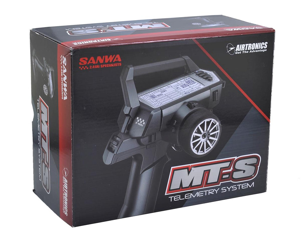 Sanwa MT-S FH4/FH3 4-Channel 2.4GHz Telemetry Radio System w/RX-482 Receiver - RACERC