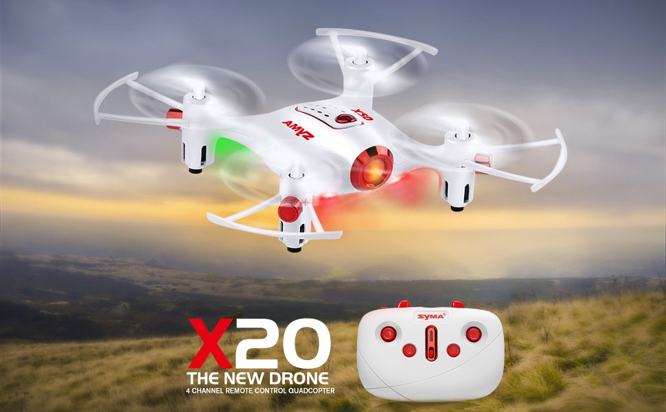 Syma X20 Mini Headless Quadcopter RC Drone with Stunt Altitude Holding for Beginner - RACERC
