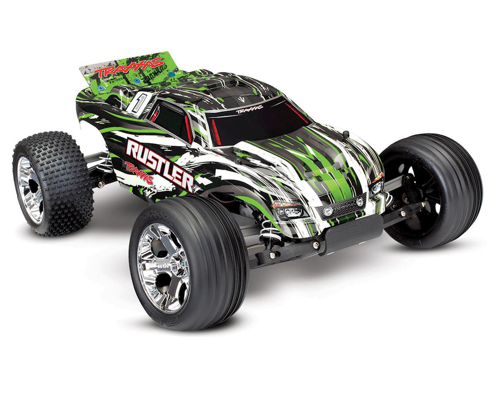 Traxxas Rustler 1/10 RTR 2WD Electric Stadium Truck (Green) w/XL-5 ESC & TQ 2.4GHz Radio