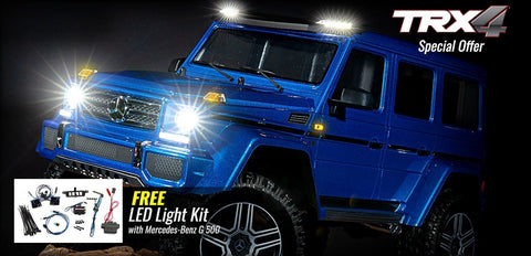 Traxxas TRX-4 Mercedes-Benz G500 4X4 RTR, Blue + LED kit