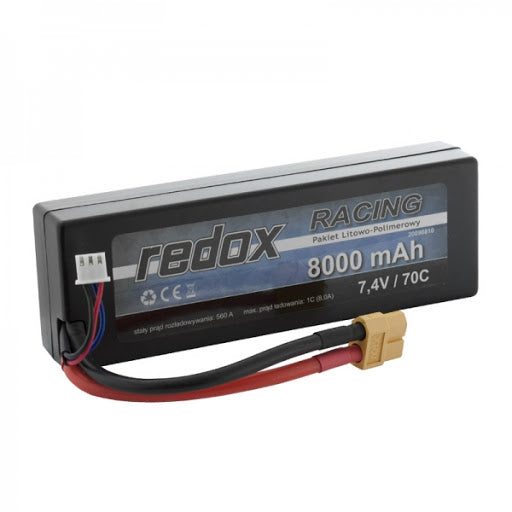 Redox RACING 8000mAh 7,4V 70C Hardcase - car LiPo pack