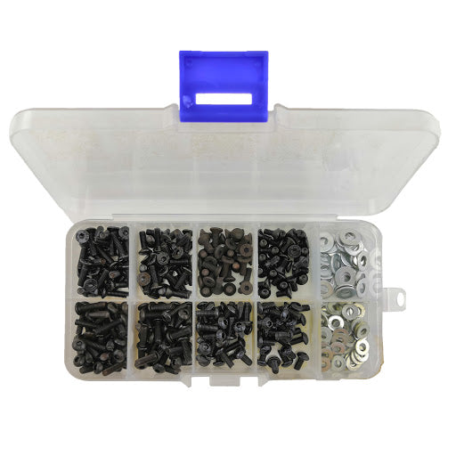 180pcs M3 Flat & Round Head Screws Set Accessories Box for RC Car 10.9 high-strengt screw Remote Control RC Part