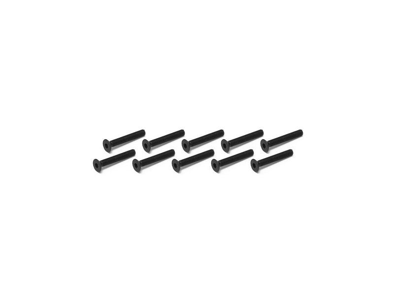 THE Flat Head Screw 3x23mm REVERSE (10pcs) - RACERC