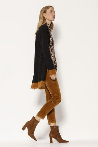 Distressed Hem Cardigan by Luisa Cerano