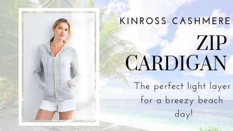 Zip Hoodie by Kinross Cashmere at Jophiel