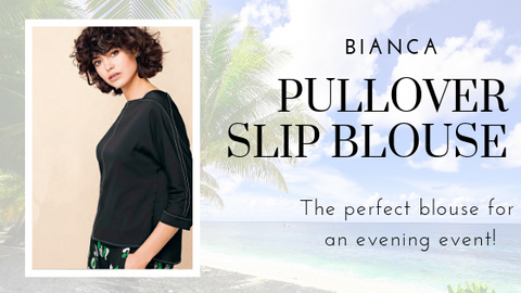 Pullover Slip Blouse by Bianca at Jophiel