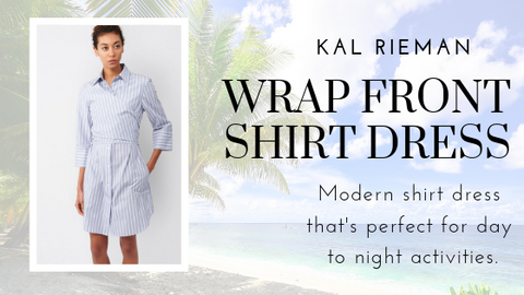 Wrap Front Shirt Dress by Kal Rieman at Jophiel
