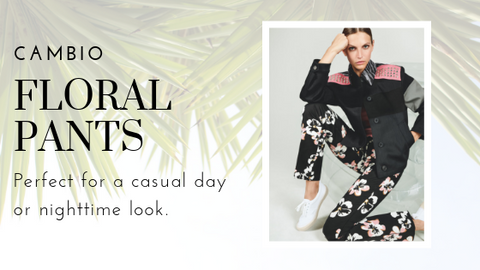 Floral Printed Pant by Cambio at Jophiel
