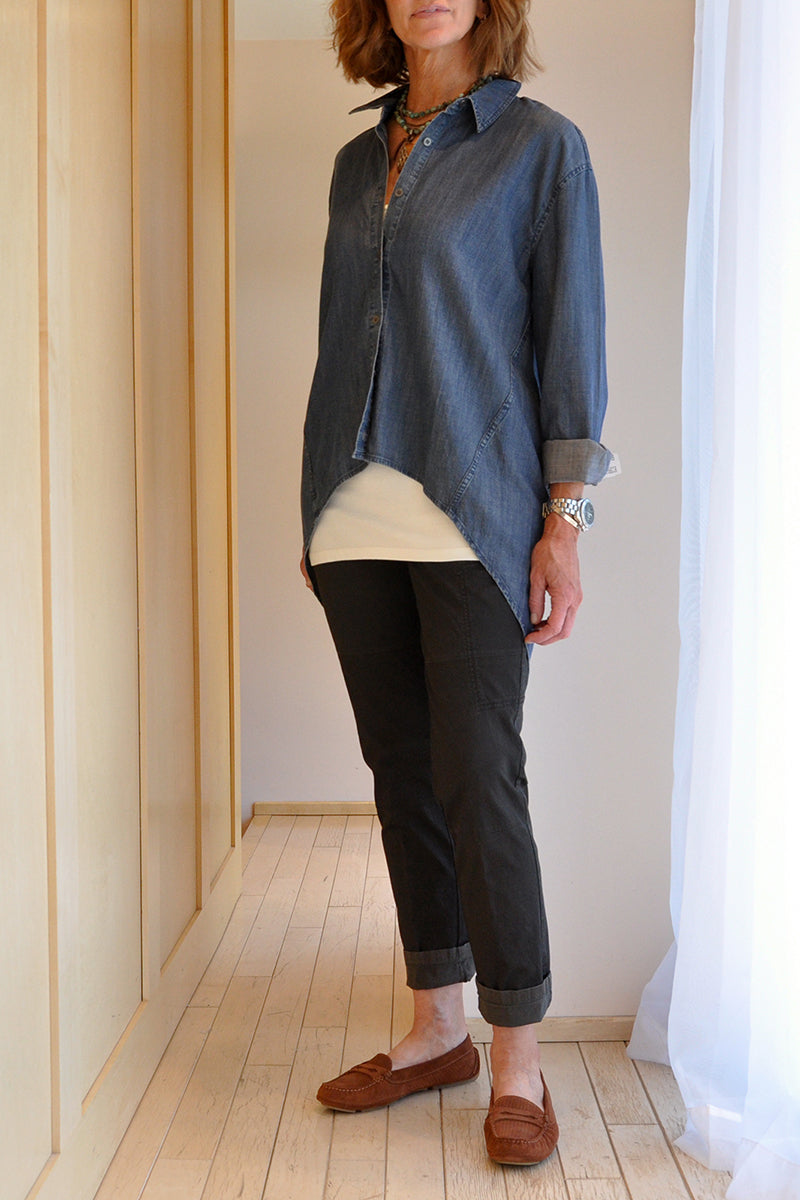 Eileen Fisher High-low Tencel Buttondown
