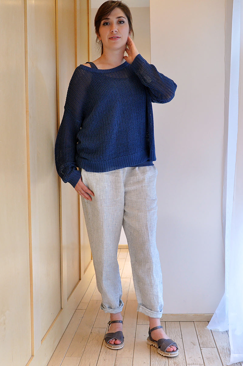 Eileen Fisher Bateau Neck Box Sweater
