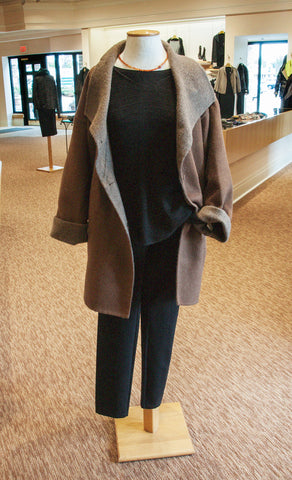Jophiel Eileen Fisher Fall Layering Camel Coat