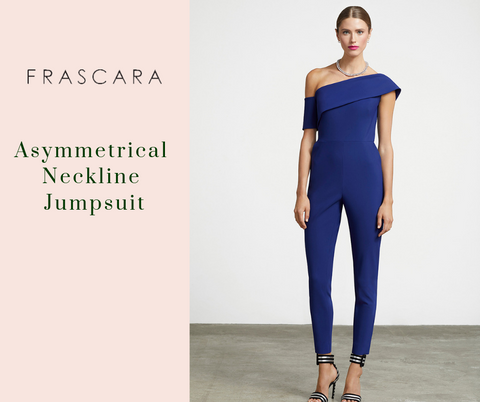 Asymmetrical Neckline Jumpsuit by Frascara at Jophiel