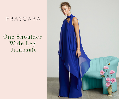 One Shoulder Wide Leg Jumpsuit by Frascara at Jophiel
