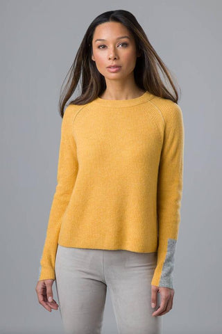Crop Rib Crew by Kinross Cashmere