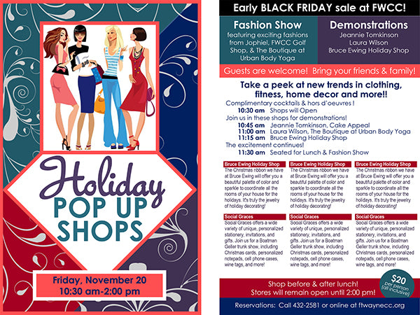 Fort Wayne Country Club Holiday Pop-Up Shop