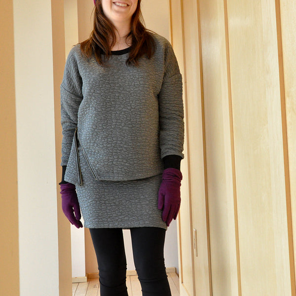 Lilla P Quilted Pullover and Mini-skirt