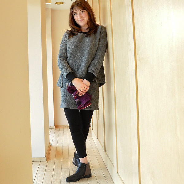 Lilla P Quilted Sweatshirt and Mini-skirt